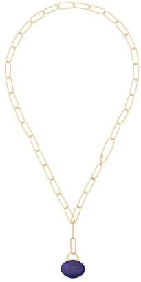 Loren Stewart 14kt Yellow Gold Lapis Lazuli Pendant Necklace