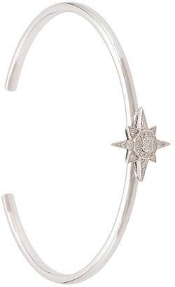 Marchesa 18kt White Gold Star Diamond Cuff