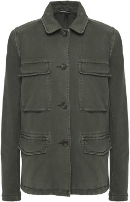 James Perse French Cotton-terry And Ribbed Jersey Jacket