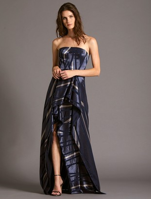 Halston Strapless Burnout Gown