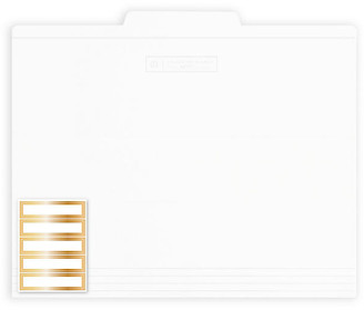 Russell + Hazel Set of 12 File Folders - White