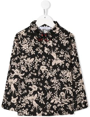 Vivetta Kids Floral-Print Shirt