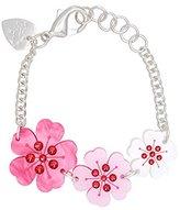 Tatty Devine Women's Multicolour Cherry Blossom Bracelet of Length 18-21.5cm