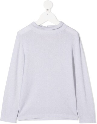 BRUNELLO CUCINELLI KIDS long-sleeved knitted T-shirt