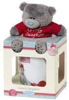Me To You Tatty Teddy Bear and Mug Lovely Daughter Gift Set, Multi-Colour