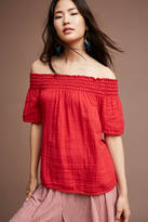 Michael Stars Smocked Off-The-Shoulder Top