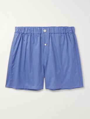 Emma Willis End-on-End Cotton Boxer Shorts - Men - Blue