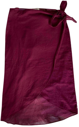 Christian Dior Burgundy Cotton Skirts