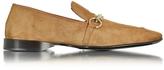 Cesare Paciotti Cognac Suede Loafer Shoe