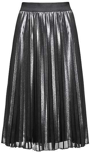 HUGO BOSS Knee-length skirt with plissé detail