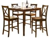 Acme 5 Piece Martha Counter Height Dining Set Wood/Country Brown