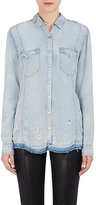 Blank NYC Blanknyc Women's Distressed Denim Button-Front Shirt
