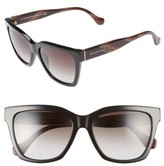 Balenciaga Women's 55Mm Sunglasses - Black/ Red Horn/ Gradient Smke