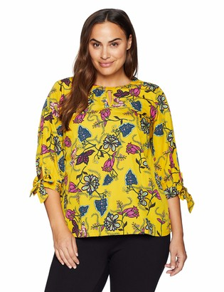 Junarose Women's Plus Size Jossi Three Quarter Sleeve Blouse