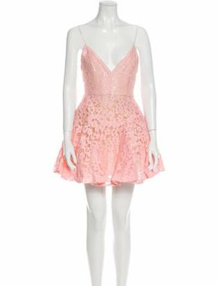 Alex Perry Lace Pattern Mini Dress Pink