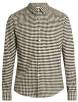 TOMORROWLAND Long-sleeved gingham brushed-cotton shirt
