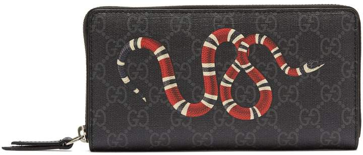 Gucci Kingsnake zip-around leather wallet