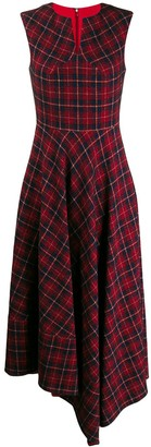 Talbot Runhof tartan print long dress