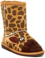 Muk Luks Gabby Giraffe Faux Fur Lined Boot (Toddler & Little Kid)