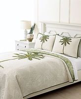 Martha Stewart Collection Coconut Palm Twin Quilt Neutral U1735
