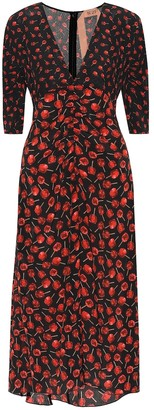 N°21 Floral silk midi dress