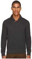Billy Reid Diamond Quilted Shawl Sweater w/ Elbow Patches Men's Sweater
