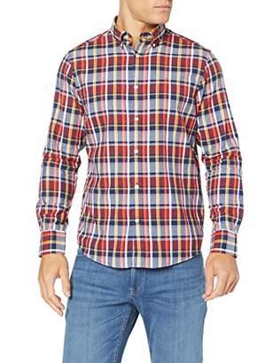 Gant Men's D1. Oxford Plaid Reg Bd Casual Shirt, (Persian Blue 423), Medium