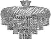TitaniaLux 308001006 Chandelier, Crystal, Polished Nickel, E14, 40 W