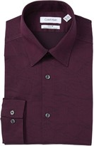 Calvin Klein Slim Fit Stretch Non-Iron Printed Dress Shirt