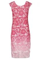 Quiz Pink Crochet Ombre Midi Dress