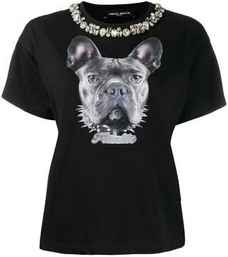 Frankie Morello embellished neck T-shirt