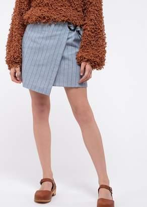 Blu Pepper Wrap Mini Skirt