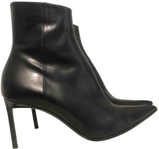 Haider Ackermann Black Leather Ankle boots