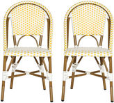 Safavieh Yellow Sasha Bistro Side Chair, Pair