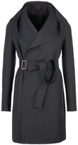 Rick Owens Hooded belted trench coat