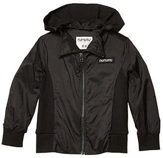 Nununu Hooded Wind Jacket (Infant/Toddler/Little Kids) (Black) Boy's Clothing