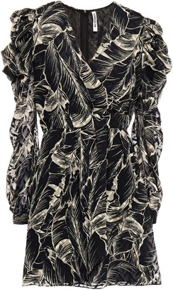 Walter Baker Pleated Fil Coupe Printed Georgette Mini Dress