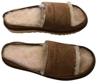 Y/Project Beige Suede Sandals