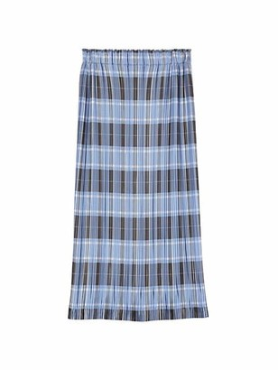 Burberry Plisse Check Printed Pencil Skirt