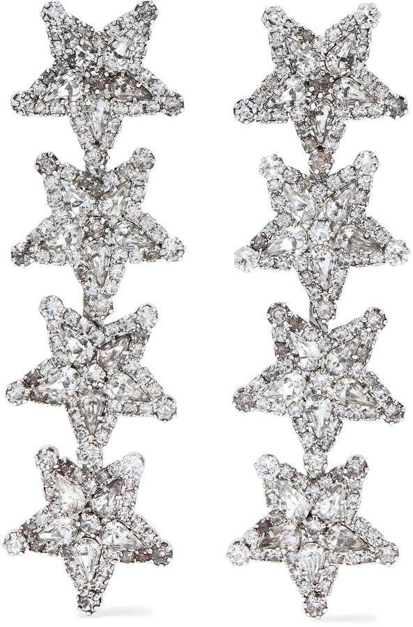 Elizabeth Cole Arie Silver-tone Swarovski Crystal Earrings