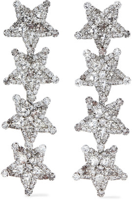Elizabeth Cole Arie Silver-tone Swarovski Crystal Earrings