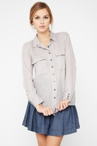 Bcbgeneration Gauze Button-Down Shirt