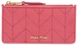 Miu Miu Embroidered Pattern Wallet