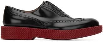 Salvatore Ferragamo Oxford Hybrid Lace-Up Shoes