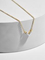 BaubleBar Adina Reyter Super Tiny Pavé Diamond V Necklace