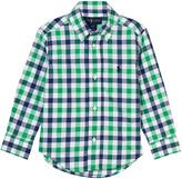 Ralph Lauren Blue and Green Poplin Shirt
