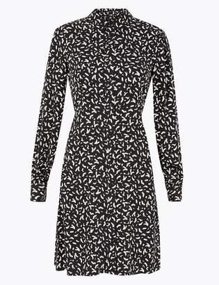 Marks and Spencer Printed Mini Shirt Dress