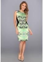 Suzi Chin for Maggy Boutique Print Inset Sheath
