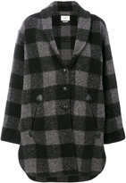 Etoile Isabel Marant checked coat - women - Cotton/Polyester/Wool/other fibers - 34