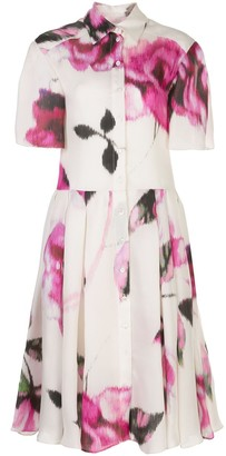 Carolina Herrera Floral-Print Midi Shirt Dress